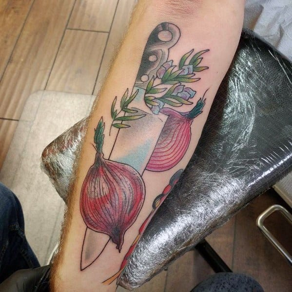 Man With Onion Tattoo Design
