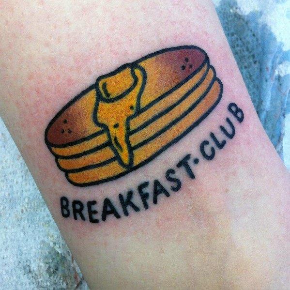 Man With Pancake Tattoo Design