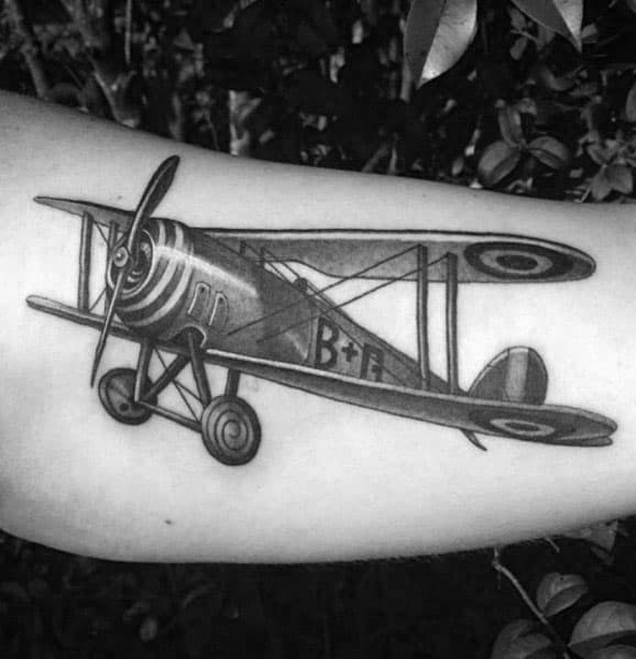 Man With Propeller Tattoo Design