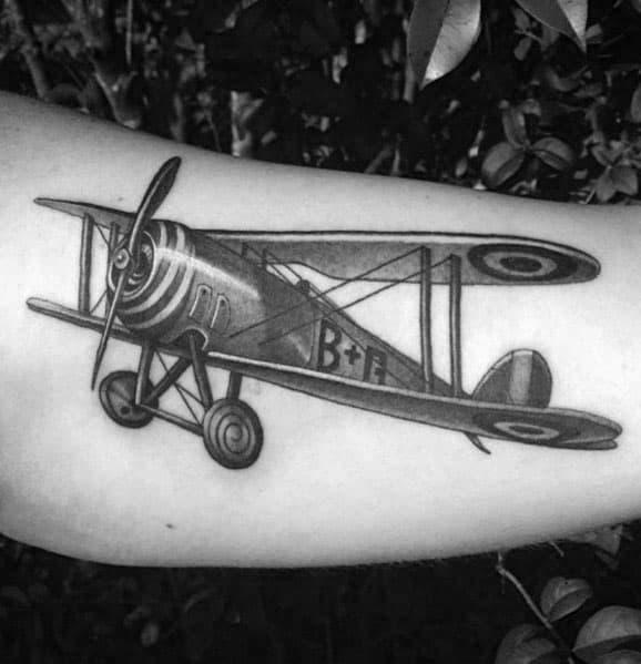 Man With Propeller Tattoo Design