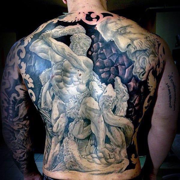 120 Full Back Tattoos For Men - Masculine Ink Designs