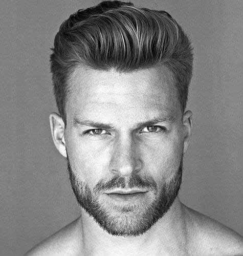 Man With Refined Modern Hairstyle Look