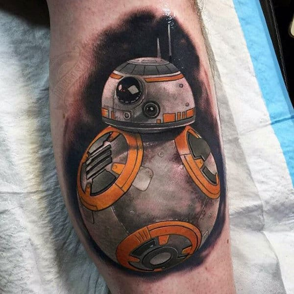 Man With Shaded Star Wars Video Game Tattoo