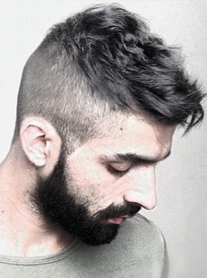 Man With Short Haircut Style And Beard