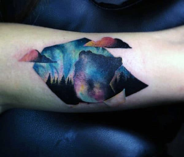 Man With Small Watercolor Tattoo Forearm