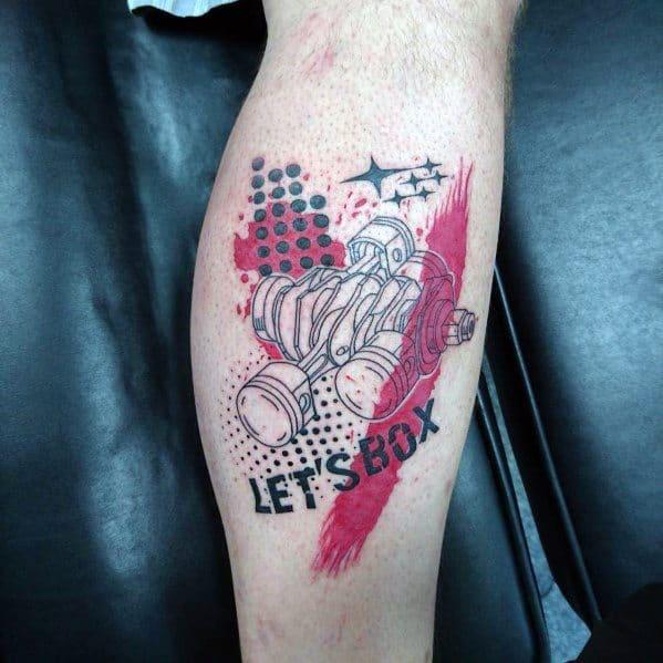 Man With Subaru Tattoo Design