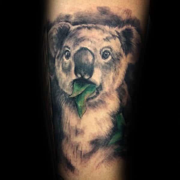 30 koala tattoo designs for men wild animal ink ideas rh nextluxury com koala bear tattoos meaning cartoon koala bear tattoos
