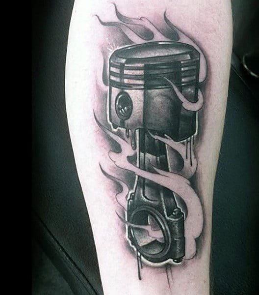 Man With Tattoo Of The Slipper Piston