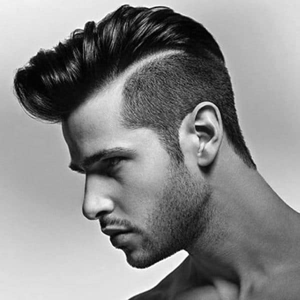 Man With Trendy Haircut Hard Part