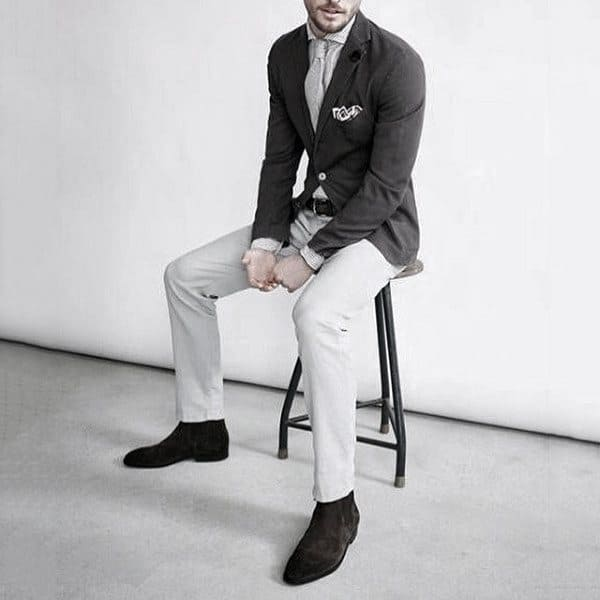 Man With Trendy Outfits Fashionable Style Look