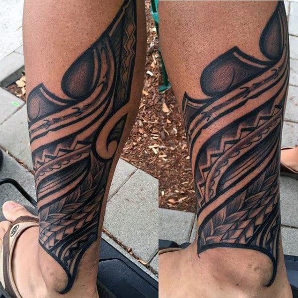 Man With Tribal Hawaiian Tattoos