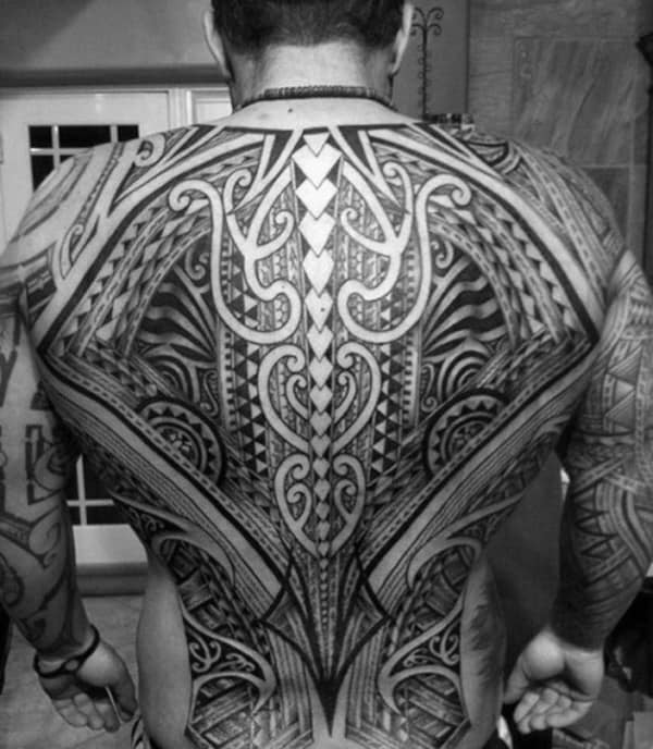 af9f5d11a 60 Tribal Back Tattoos For Men - Bold Masculine Designs