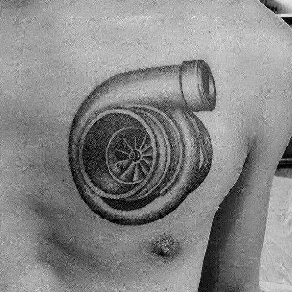 Man With Turbo Tattoo Design