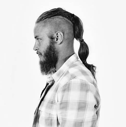 Man With Undercut On Long Hair