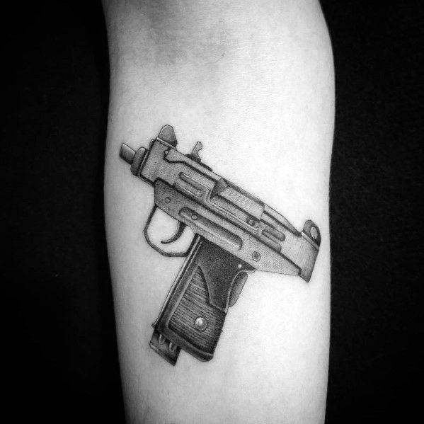 Man With Uzi Tattoo Design