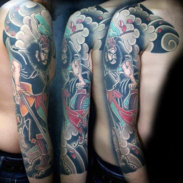 man-with-violent-japanese-sleeve-tattoo