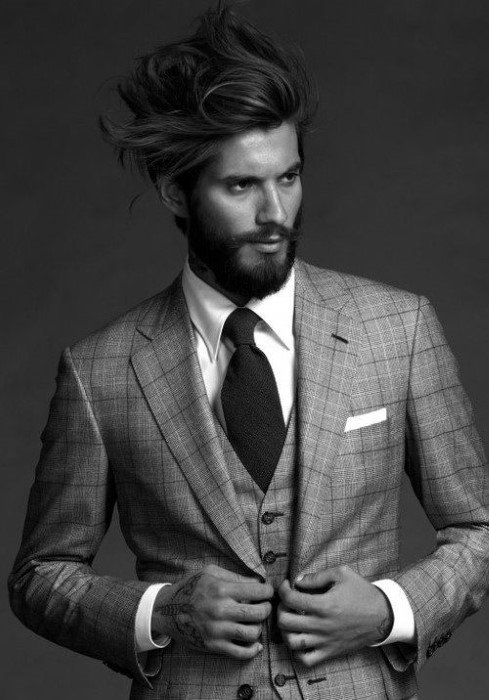 Man With Wavy Flow Hairstyle