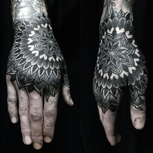 Mandala Geometric Mens Tattoos On Hands