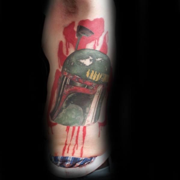 Mandalorian Mens Rib Cage Side Of Body Tattoo Ideas