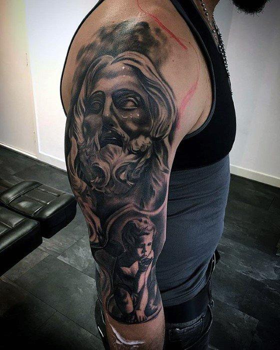 Manly 3d Jesus Tattoo Design Ideas For Men