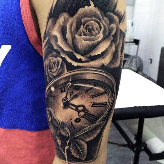nextluxury realistic 11 black and grey rose tattoos