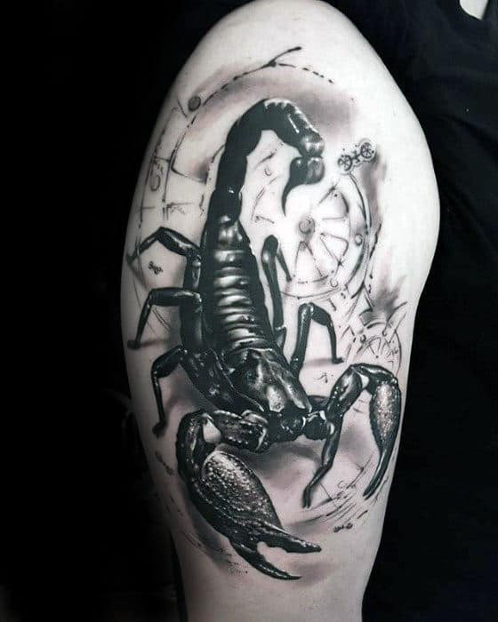 40 3d Scorpion Tattoo Designs For Men Stinger Ink Ideas