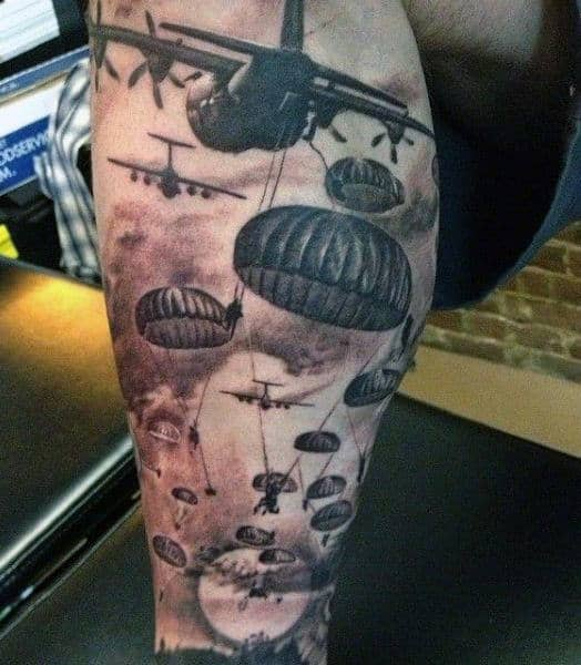 30 airborne tattoos for men military ink design ideas. Black Bedroom Furniture Sets. Home Design Ideas