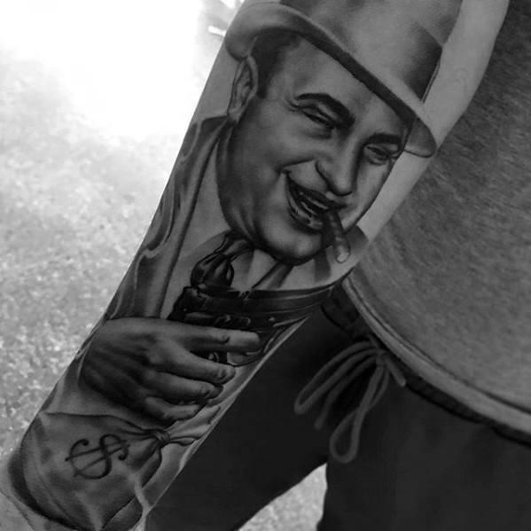 Manly Al Capone Tattoo Design Ideas For Men