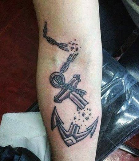 Manly Anchor Tattoo Designs For Gentlemen