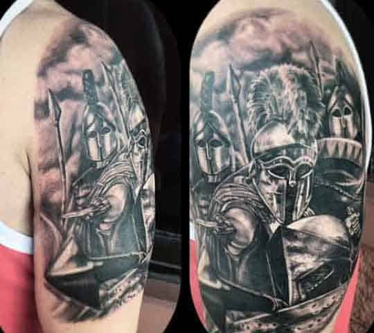 Manly Ancient Spartan Tattoos