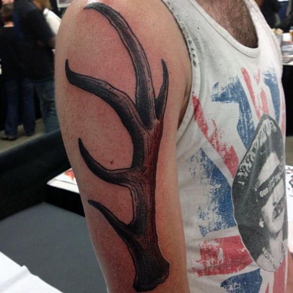 Manly Antler Arm Tattoos For Gentlemen