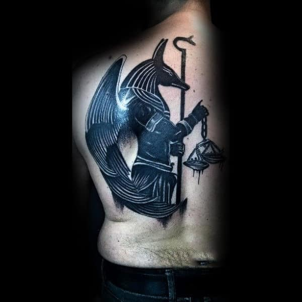 b3514171c 100 Anubis Tattoo Designs For Men - Egyptian Canine Ink Ideas