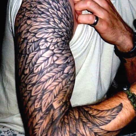 Manly Arm Wing Tattoo Half Sleeve