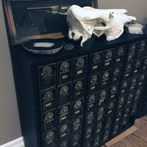Manly Bachelor Pad Decor And Cabinet Storage Ideas