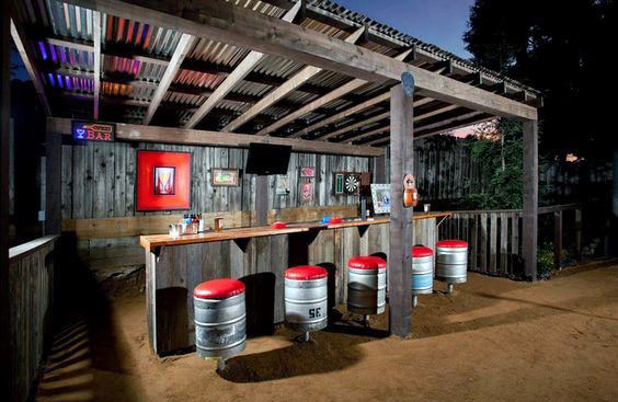 Manly Backyard Shed Bar Ideas