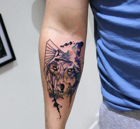 Manly Bad Wolf Tattoo For Men