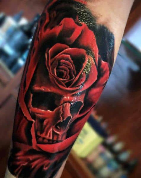 Manly Badass Rose Tattoos For Males