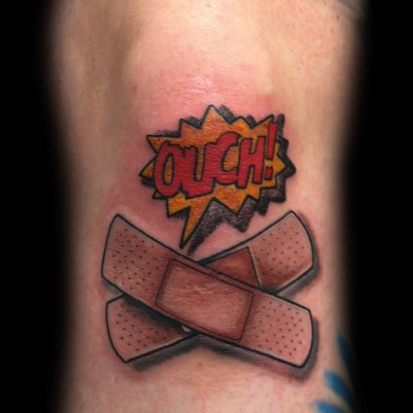 Manly Band Aid Tattoos For Males