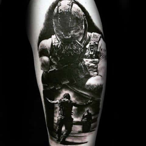 Manly Bane 3d Mens Realistic Arm Tattoo Design Ideas