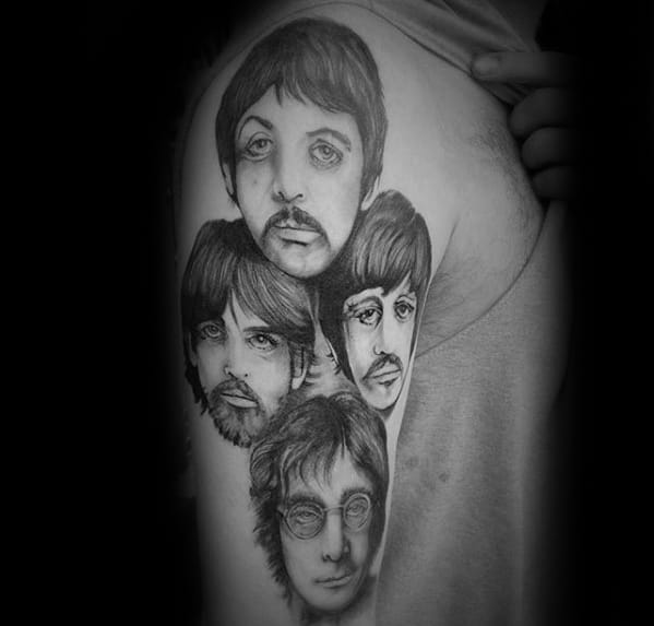 Manly Beatles Tattoo Design Ideas For Men On Arm