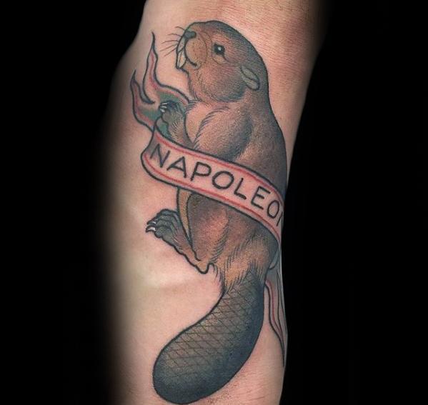 Manly Beaver Tattoo Design Ideas For Men