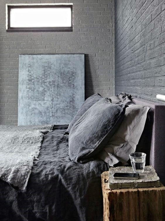 Manly Bedroom Ideas Grey Tone