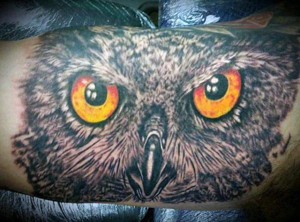 Manly Bicep Tattoos For Men Owls