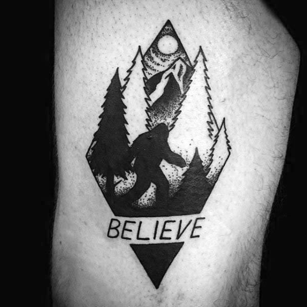 Manly Bigfoot Tattoo Design Ideas For Men