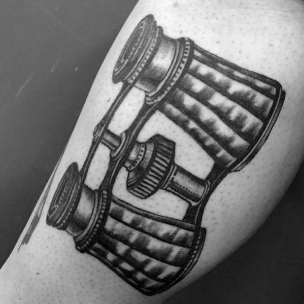 Manly Binoculars Tattoos For Males On Bicep