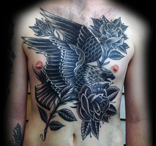 60 traditional chest tattoo designs for men