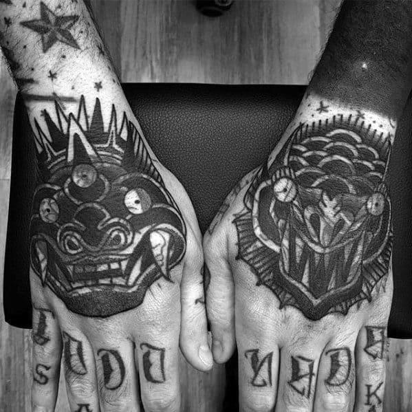 Manly Blast Over Tattoo Demon Hand Design Ideas For Men