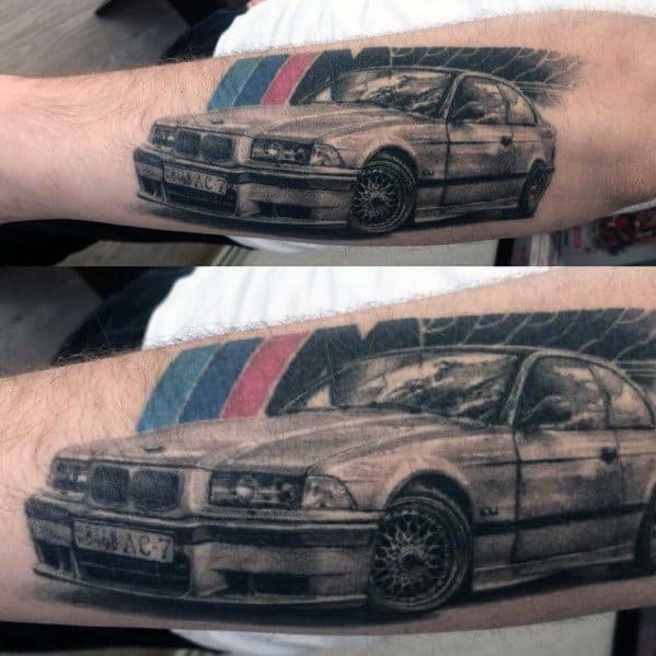 Manly Bmw Tattoos For Males