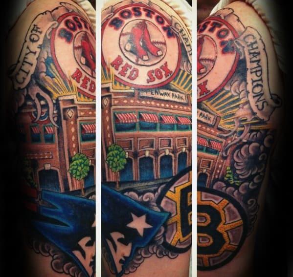 60 Boston Red Sox Tattoos For Men - Baseball Ink Ideas