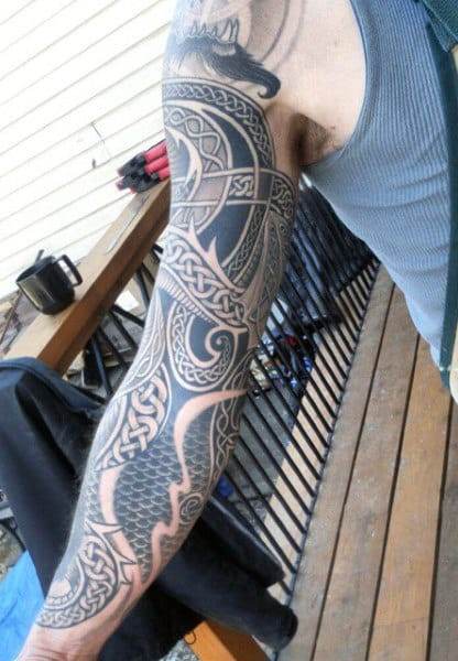 Manly Celtic Tattoo Designs For Men